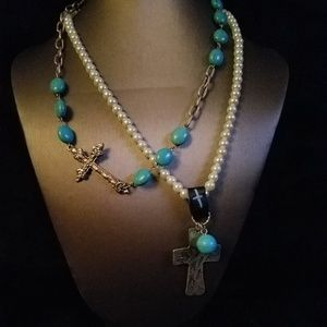 2 Cross Necklaces